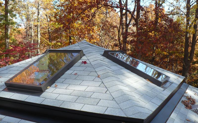Before and After Skylights
